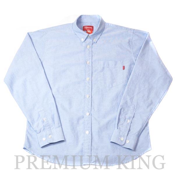 国内正規品 2018SS Supreme Oxford Shirt Light Blue 新品未使用品 [ シュプリーム オックスフォード シャツ ライト ブルー 青 ]