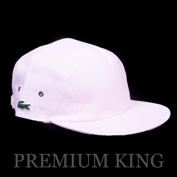 正規品 2017SS Supreme × LACOSTE Pique Camp Cap Pink 新品未使用品 [ シュプリーム ラコステ ピケ キャンプ キャップ ピンク ]
