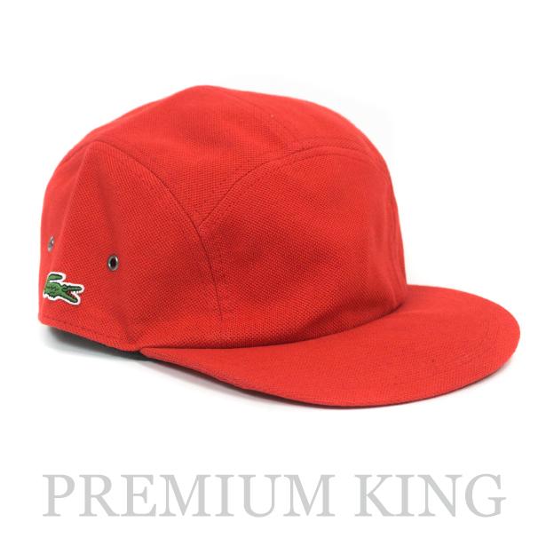 正規品 2017SS Supreme × LACOSTE Pique Camp Cap Red 新品未使用品 [ シュプリーム ラコステ ピケ キャンプ キャップ レッド 赤 ]