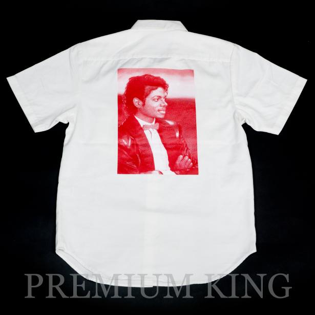 国内正規品 2017SS Supreme × Michael Jackson S/S Work Shirt White 新品未使用品 [ シュプリーム マイケル ジャクソン ワークシャツ 半袖 ホワイト 白 ]