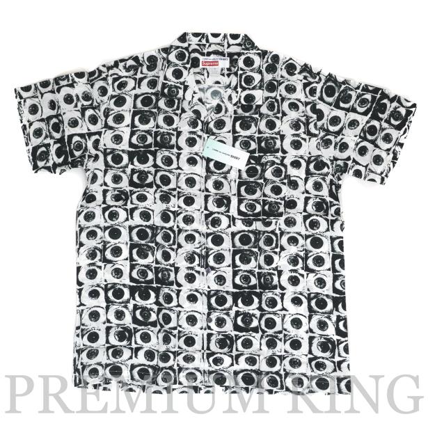 正規品 2017SS Supreme x COMME des GARCONS SHIRT Eye Rayon Shirt White 新品未使用品 [ シュプリーム コムデギャルソン シャツ アイ  レーヨンシャツ 半袖 ホワイト 白 ]