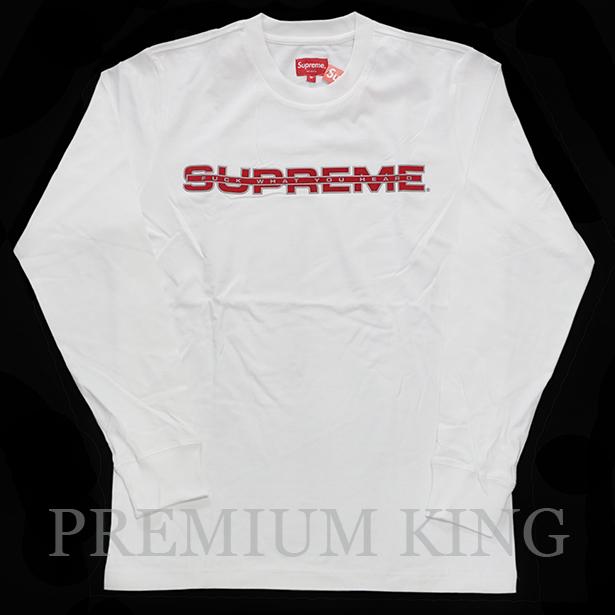 正規品 2017SS Supreme Reflective L/S Tee White 新品未使用 [シュプリーム リフレクティブ Tシャツ ホワイト 白]