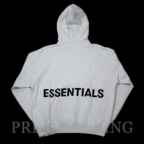 正規品 FOG Fear Of God Essentials Graphic Pullover Hoodie Gray 新品未使用品 [ フィアオブゴッド フーディー パーカー グレー 灰 ]