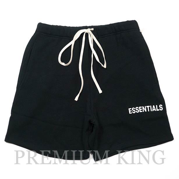 国内正規品 FOG Fear Of God Essentials Graphic Sweat Shorts Black 新品未使用品 [ フィアオブゴッド エッセンシャルズ スウェット ショーツ ブラック ]
