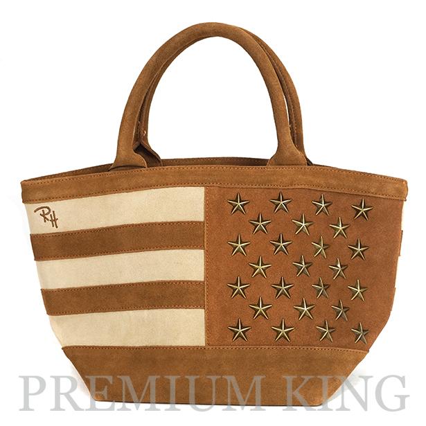 ロンハーマン京都店 1周年限定 2016AW Ron Herman California Suede American Flag Tote Bag 新品未使用品 [ ロンハーマン カリフォルニア スエード アメリカン フラッグ トートバッグ ]