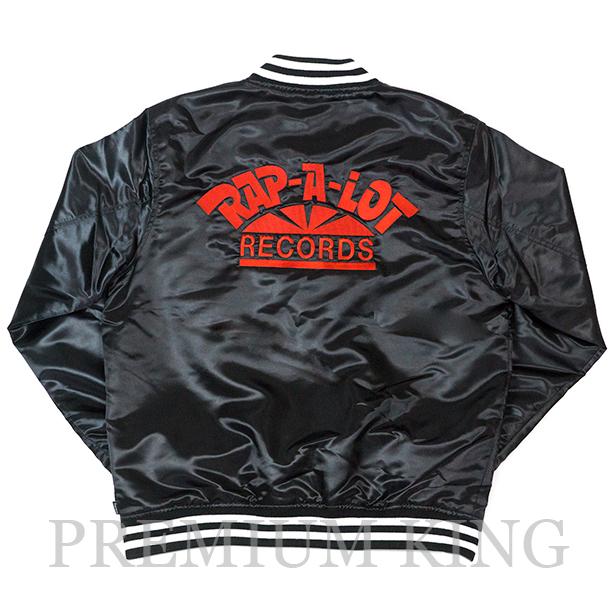 正規品 2017SS Supreme Rap-A-Lot Records Satin Club Jacket Black 新品未使用品 [ シュプリーム ラップ ア ロット レコーズ サテン クラブジャケット スタジャン ブラック 黒 ]