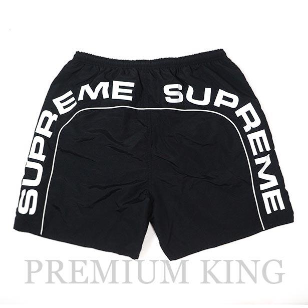 国内正規品 2018SS Supreme Arc Logo Water Short Black 新品未使用品 [ シュプリーム アーチ ロゴ ウォーター ショーツ ブラック]