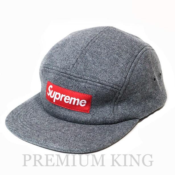 国内正規品 2014AW Supreme Fitted Wool Knit Camp Cap Grey 新品未使用品 [ シュプリーム フィッテッド  ウール ニット キャンプ キャップ グレー 灰 ]