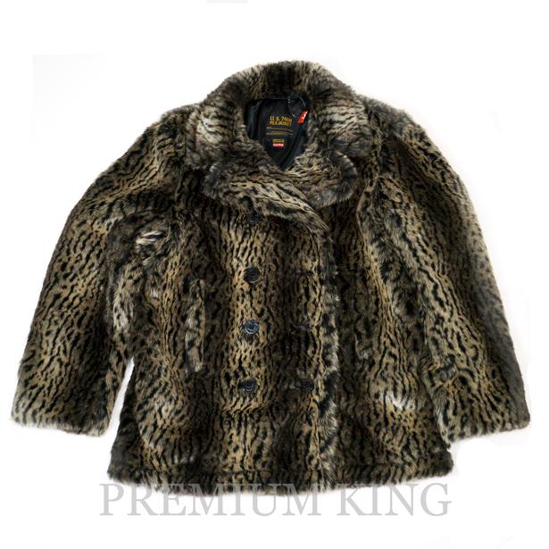 国内正規品 2017AW Supreme Schott Fur Peacoat Leopard 新品未使用品 [ シュプリーム ショット ファー ピーコート レオパード ヒョウ柄 ]