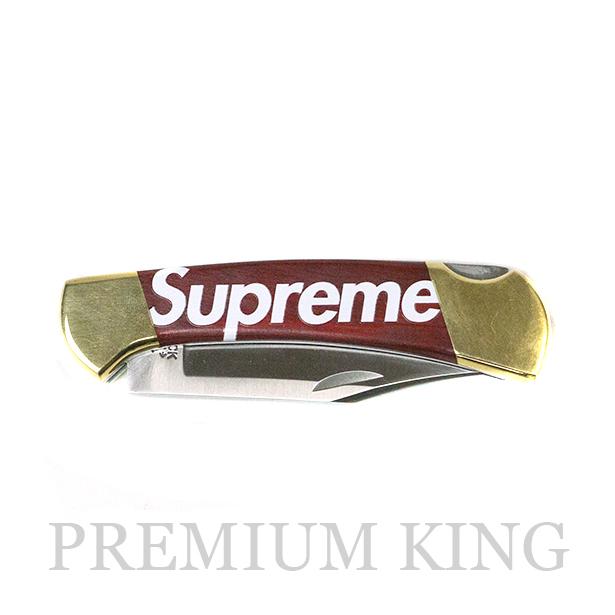 国内正規品 2009AW Supreme × Buck Knives Buck Knife Red 美中古品 [ シュプリーム バックナイフ ナイフ レッド 赤 ]