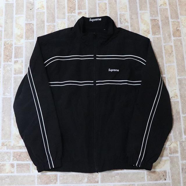 国内正規品 2017AW Supreme Piping Track Jacket Black 新品未使用品 [ シュプリーム パイピング トラック ジャケット ブラック 黒 ]