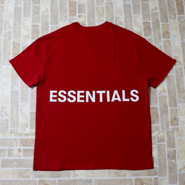 国内正規品 FOG Fear Of God Essentials Boxy Graphic T-Shirt Red 新品未使用品 [ フィアオブゴッド エッセンシャルズ Tシャツ レッド 赤 ]