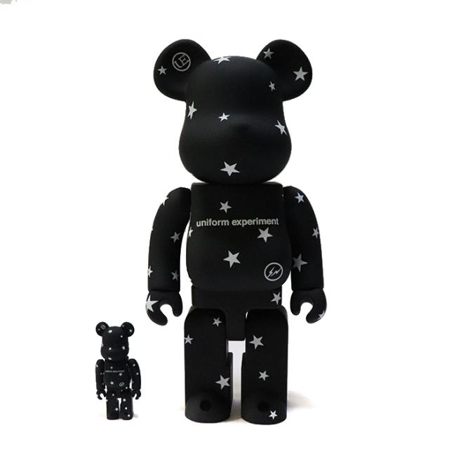 国内正規品 uniform experiment × MEDICOM TOY STAR BE@RBRICK SET 100% & 400% BLACK 新品未使用品 [ ユニフォームエクスペリメント メディコムトイ スター ベアブリック セット ブラック 黒 ]