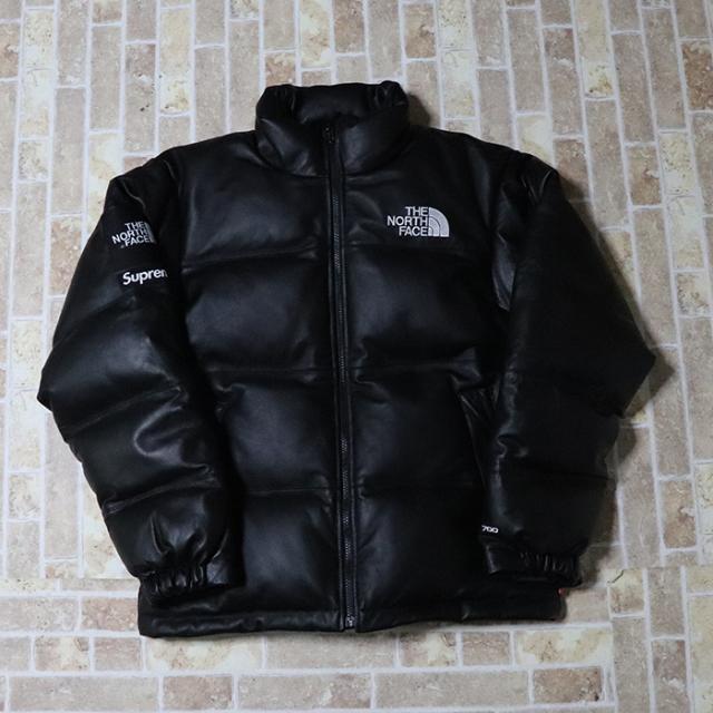 正規品 2017AW Supreme × The North Face Leather Nuptse Jacket Black 新品未使用品 [ シュプリーム ノースフェイス レザーヌプシ ジャケット ブラック 黒 ]