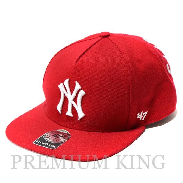 正規品 2015SS New York Yankees × Supreme × 47 Brand 5-Panel Snapback Cap Red 美中古品 [ シュプリーム ニューヨーク ヤンキース シュプリーム 47ブランド スナップバック キャップ レッド 赤 ]