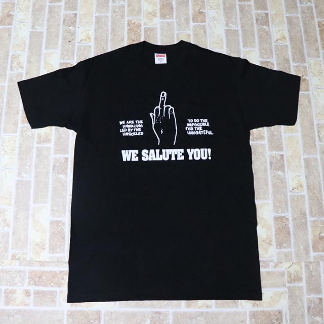 正規品 2011SS Supreme We Salute You Tee Black 美中古品 [ シュプリーム ウィー サルート ユー Tシャツ ブラック 黒 ]
