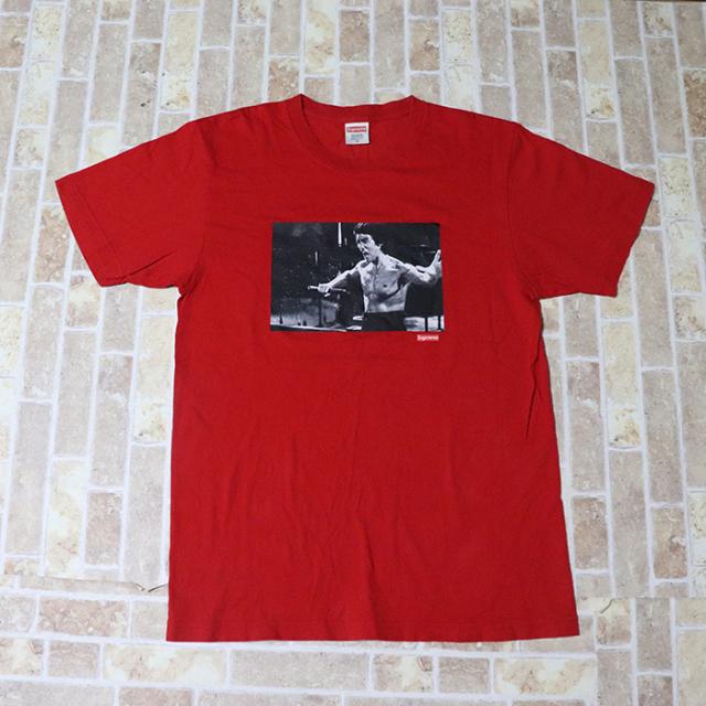正規品 2013AW Supreme Bruce Lee Enter The Dragon Tee Red 美中古品 [ シュプリーム ブルースリー エンターザドラゴン Tシャツ レッド 赤 ]