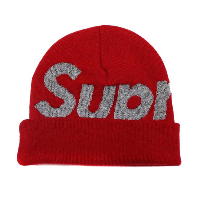 正規品 2018AW Supreme Big Logo Beanie Red 新品未使用品 [ シュプリーム ビッグロゴ ビーニー スリーエム リフレクティブ レッド 赤 ]