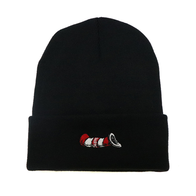 正規品 2018aw supreme cat in the hat beanie black 新品未使用品