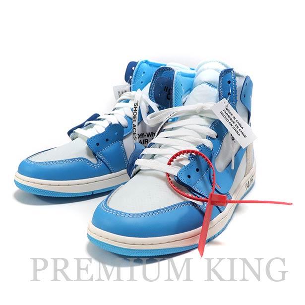 国内正規品 Off-White x Nike AIR JORDAN 1 UNC 新品未使用品 [ オフホワイト ナイキ エア ジョーダン ワン パウダーブルー AQ0828-148 ]