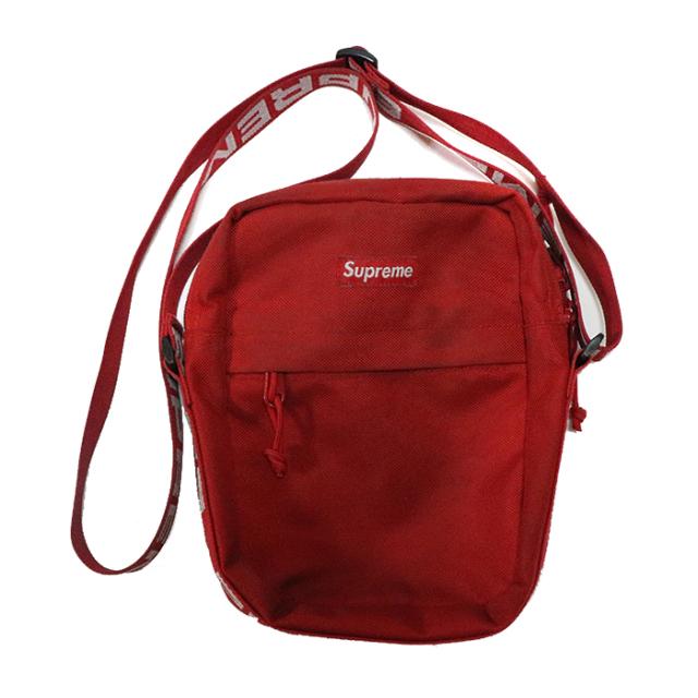 正規品 2018SS Supreme 1050D Cordura ripstop nylon Shoulder Bag Red 中古品 [ シュプリーム コーデュラ リップストップ ナイロン ショルダー バッグ レッド 赤 ]