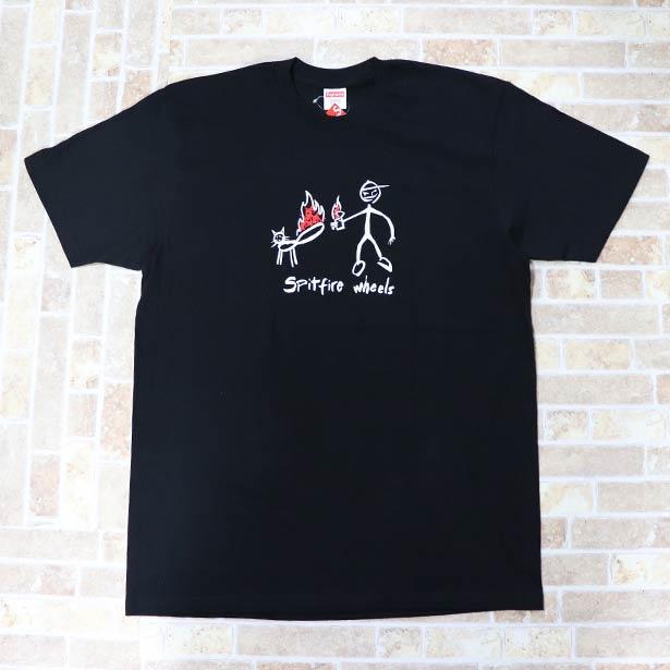 国内正規品 2018SS Supreme x Spit fire Cat T-Shirt Black 新品未使用品 [ シュプリーム スピットファイア キャット Tシャツ ブラック 黒 ]