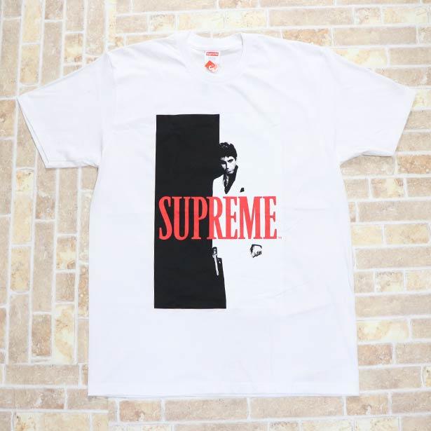 国内正規品 2017AW Supreme Scarface Split Tee White 新品未使用品 [ シュプリーム スカーフェイス スプリット Tシャツ ホワイト 白 ]