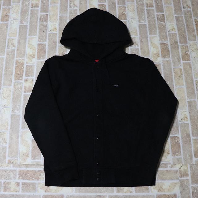 正規品 2012AW Supreme Small Box Snap Front Sweatshirt Black 美中古品 [ シュプリーム スモール ボックス スナップ フロント スウェットシャツ パーカー ブラック 黒 ]