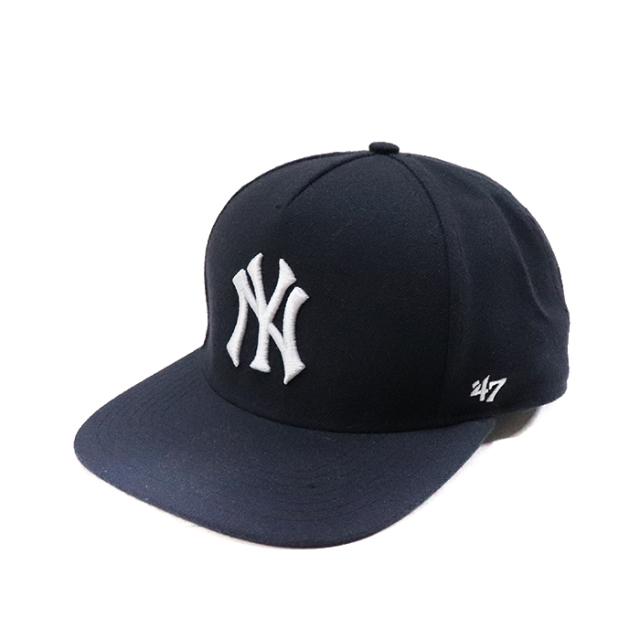 正規品 2015SS New York Yankees × Supreme × 47 Brand 5-Panel Snapback Cap Navy 美中古品 [ シュプリーム ニューヨーク ヤンキース シュプリーム 47ブランド スナップバック キャップ ネイビー 紺 ]