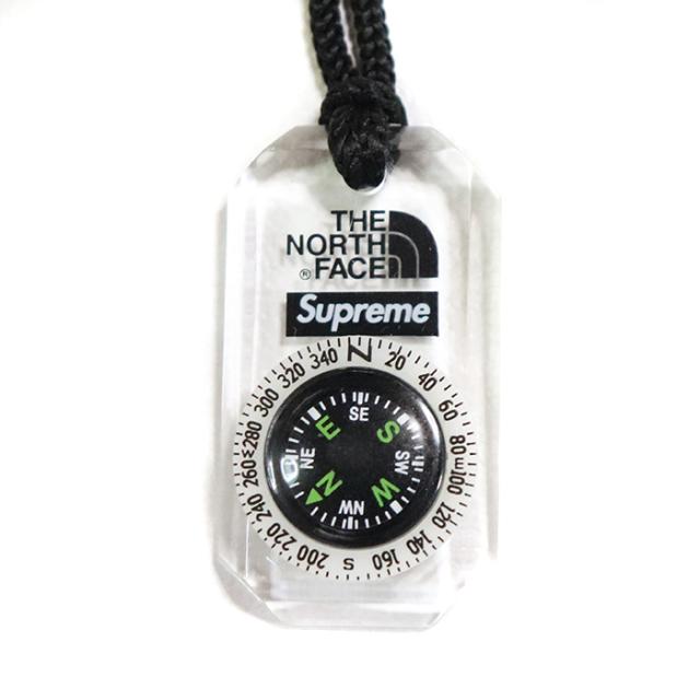 国内正規品 2018AW Supreme × The North Face Compass Necklace Black 新品未使用品 [ シュプリーム ノースフェイス コンパス ネックレス ブラック 黒 ]