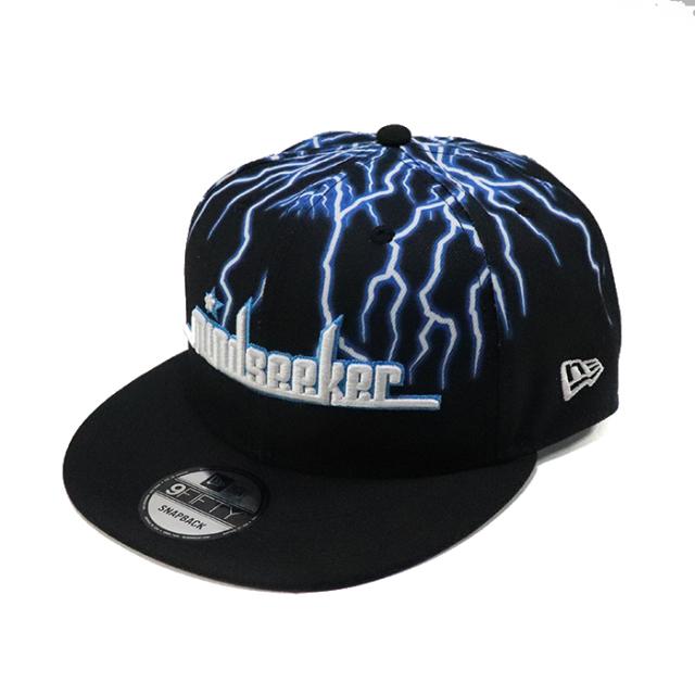 """国内正規品 2018AW mindseeker x New Era """" Lightning of Black """" CAP Black 新品未使用品 [ マインドシーカー ニューエラ ライトニング オブ ブラック キャップ ブラック 黒 ]"""