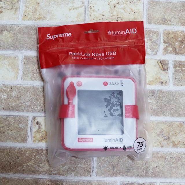 国内正規品 2018SS Supreme LuminAID PackLite Nova USB RED  新品未使用品 [ シュプリーム ルミンエイド パックライト 赤 ]