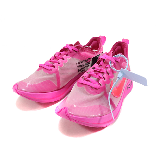 国内正規品 2018AW OFF-WHITE VIRGIL ABLOH × NIKE ZOOM FLY SP PINK Tulip Pink/Racer Pink AJ4588-600 新品未使用品 [ オフホワイト ヴァージル アブロー ナイキ ズームフライ スペシャル ピンク ]