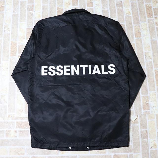 国内正規品 FOG Fear Of God Essentials Coaches Jacket Black 新品未使用品 [ フィアオブゴッド エッセンシャルズ コーチジャケット ブラック 黒 ]