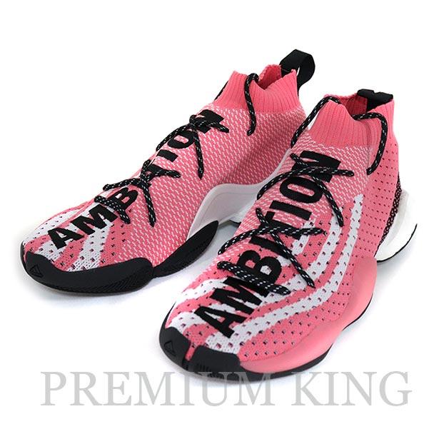 国内正規品 PHARRELL WILLIAMS × adidas originals CRAZY BYW LVL X PW Chalk Pink/Footwear White-Core Black 新品未使用品 [ ファレルウィリアムス アディダス オリジナル クレイジー BYW LVL X PW ピンク 桃 G28183 ]