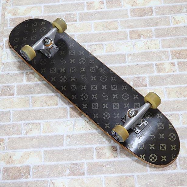 国内正規品 2000SS Supreme Monogram Skate Deck Brown 中古品 [ シュプリーム モノグラム スケートボード デッキ ブラウン 茶 ]