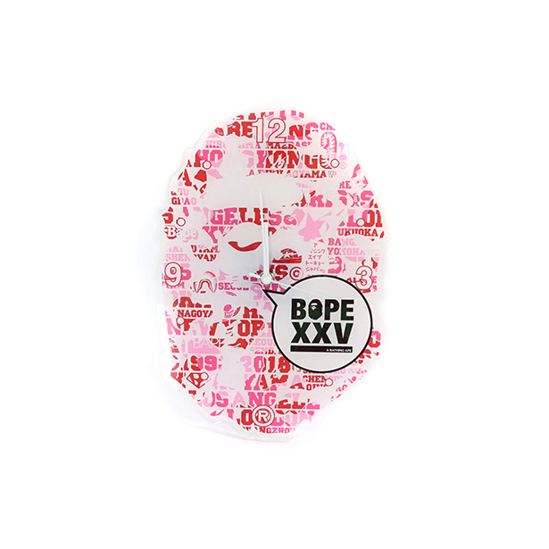 国内正規品 A BATHING APE BAPE XXV APE HEAD WALL CLOCK PINK 1E20182188 新品未使用品 [ ベイシングエイプ ベイプ 25周年 エイプ ヘッド ウォール クロック 掛け時計 ピンク 桃 ]