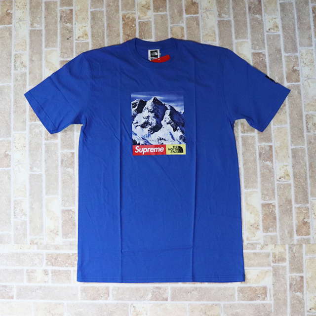 国内正規品 2017AW  Supreme × The North Face Mountain T-Shirt Blue 新品未使用品 [ シュプリーム × ザ ノース フェイス マウンテン Tシャツ ブルー 青 ]