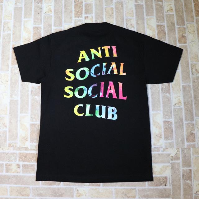 正規品 2018AW ANTI SOCIAL SOCIAL CLUB THAI DYE BLACK TEE BLACK 新品未使用品  [ アンチ ソーシャル ソーシャル クラブ ASSC タイダイ Tシャツ ブラック 黒 ]