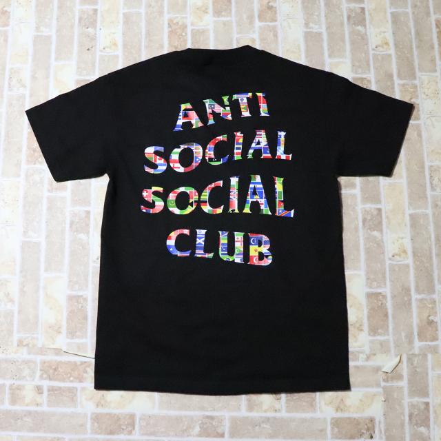 正規品 Anti Social Social Club Flag Tee Black 新品未使用品  [ アンチ ソーシャル ソーシャル クラブ ASSC フラッグ Tシャツ ブラック 黒 ]