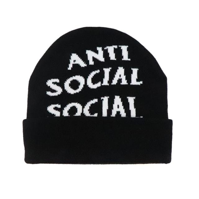 正規品 2018AW ANTI SOCIAL SOCIAL CLUB JACCARDO BLACK 新品未使用品  [ アンチ ソーシャル ソーシャル クラブ ASSC ジャカード ビーニー ブラック 黒 ]