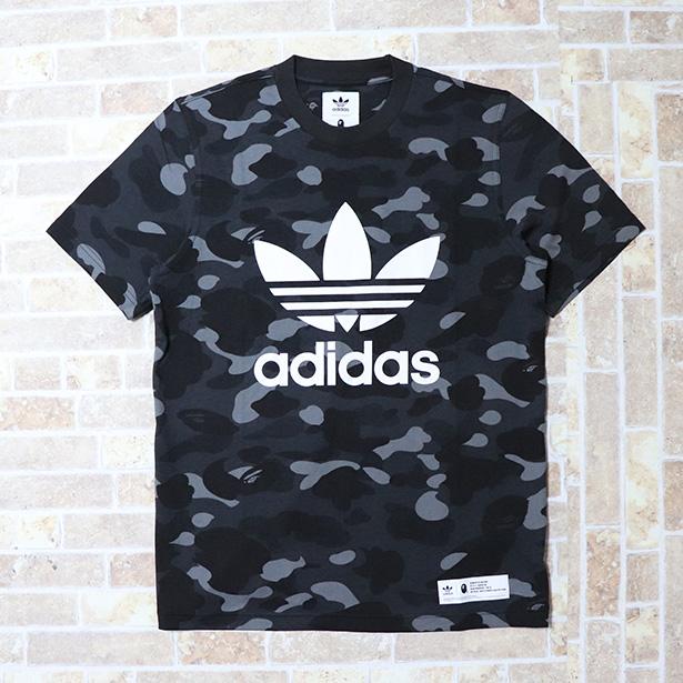 国内正規品 A BATHING APE BAPE x adidas CAMO TEE CINDER BLACK 新品未使用品 [ ベイシングエイプ ベイプ アディダス カモ Tシャツ ブラック 黒 迷彩 ]