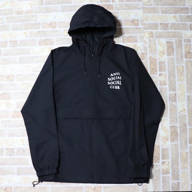 正規品 ANTI SOCIAL SOCIAL CLUB MAK BLACK ANORAK JACKET BLACK 新品未使用品 [ アンチ ソーシャル ソーシャル クラブ ブラック アノラック ジャケット ]