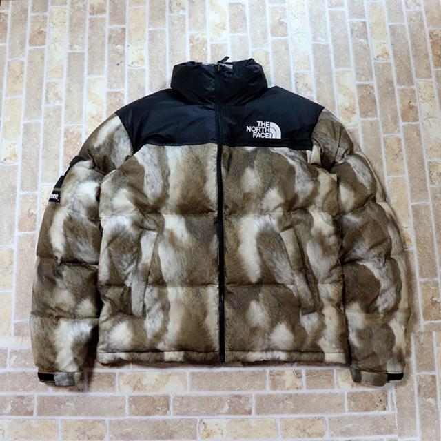 国内正規品 2013AW Supreme × The North Face Nuptse Fur Print Down Jacket Black Brown 新品未使用品 [ シュプリーム × ノースフェイス ヌプシ ファー ダウン ジャケット ブラック ブラウン ]