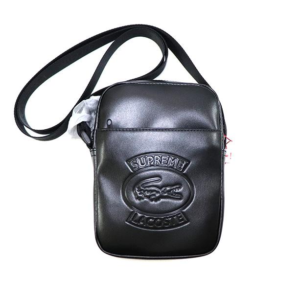 国内正規品 2018SS Supreme × LACOSTE Shoulder Bag Black 新品未使用品 [ シュプリーム ラコステ ショルダーバッグ ブラック ]