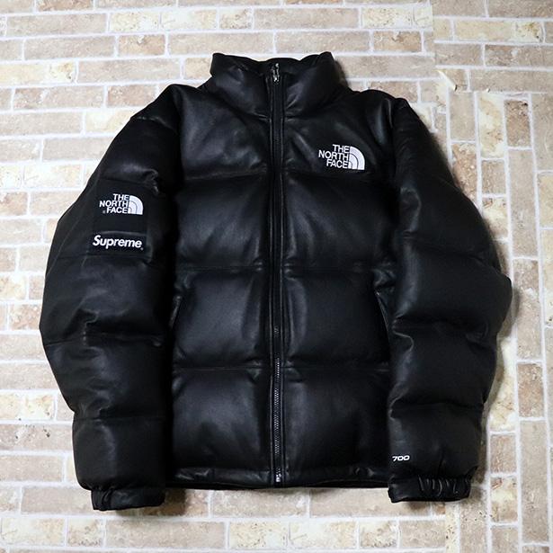 国内正規品 2017AW Supreme × The North Face Leather Nuptse Jacket Black 新品未使用品 [ シュプリーム ノースフェイス レザーヌプシ ジャケット ブラック 黒 ]
