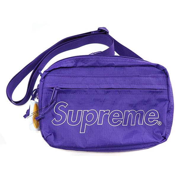 国内正規品 2018AW Supreme Shoulder Bag Purlple 新品未使用品 [ シュプリーム ショルダー バッグ パープル 紫 ]