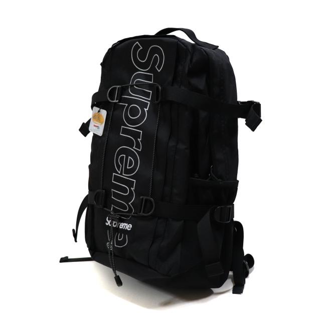 国内正規品 2018AW Supreme Backpack Black 新品未使用品 [ シュプリーム バックパック ブラック 黒 ]