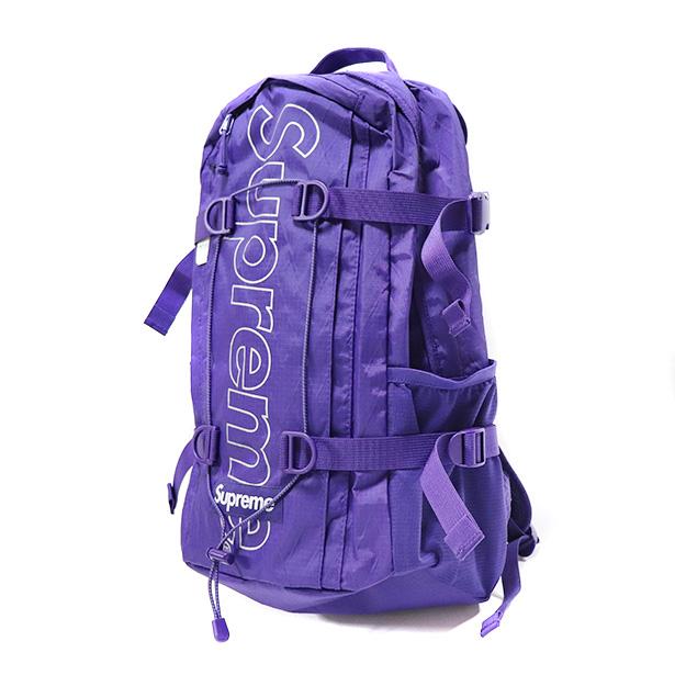 国内正規品 2018AW Supreme Backpack Purple 新品未使用品 [ シュプリーム バックパック パープル 紫 ]