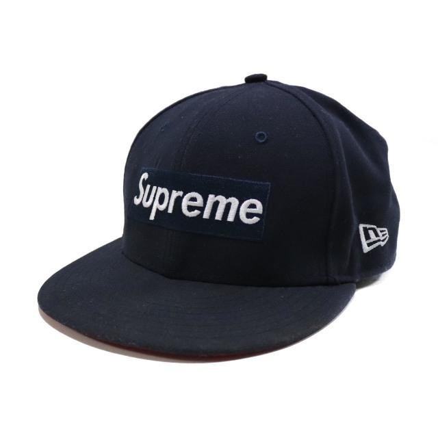 国内正規品 2013AW Supreme GORE-TEX New Era Box Logo Cap Navy 美中古品 [ シュプリーム ゴアテックス ニューエラ ボックス ロゴ キャップ ネイビー 7 1/4 ]